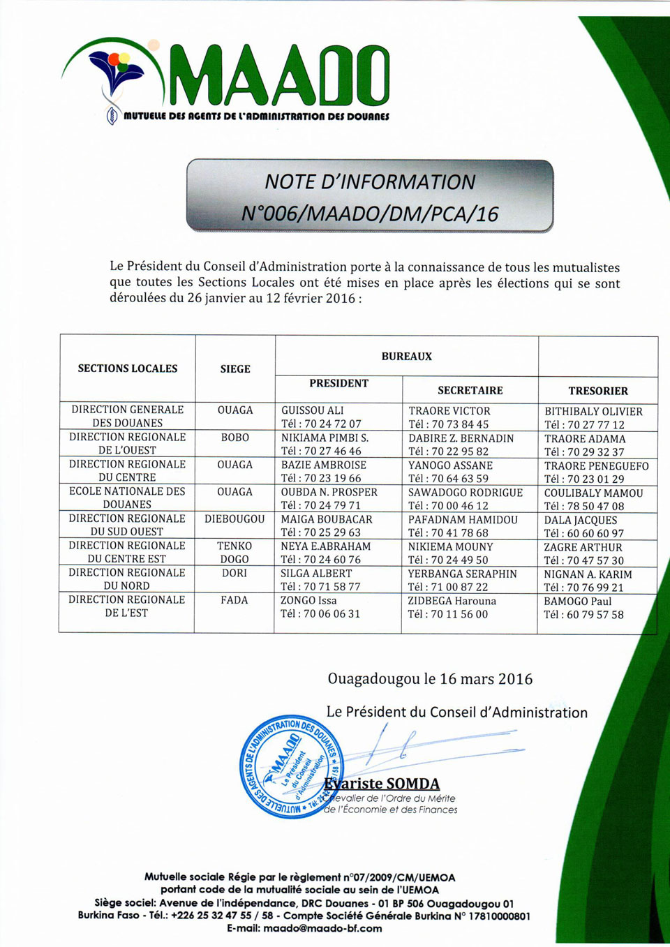 Note d'information SL